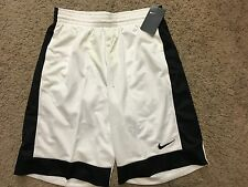 NWT Nike Basketball Shorts 641421-100 Mens White Fastbreak Shorts Small MSRP$30