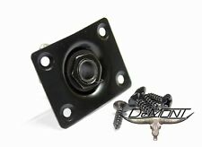 "Guitar Input Recessed Curved 1/4"" Input Jack & Plate - Black -Ships USA"