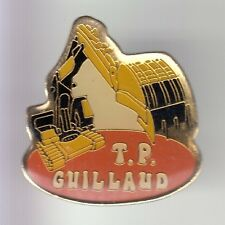 RARE PINS PIN'S .. AGRICULTURE TRACTEUR TRACTOR BTP PELLE CAT GUILLAUD TP 38 ~DC