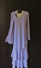 CATTIVA Size 18 Lilac Wedding Outfit Dress & Jacket Mother of the Bride Designer