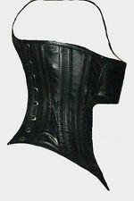 Soft lambskin leather neck corset best quality workmanship the mouth cover