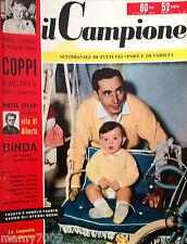 IL CAMPIONE=N°14 1956=BOXE=CALCIO=CICLISMO=ATTUALITA' SPORTIVA=COPPI
