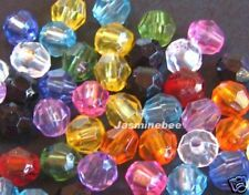 Wholesale 500*6mm Faceted Round Acrylic Plastic Beads