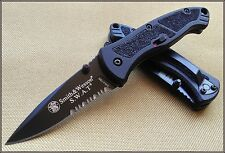 SMITH & WESSON SWAT TACTICAL SPRING ASSISTED KNIFE SAFETY LOCKING MECH WITH CLIP
