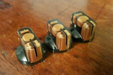 10 JAT Pointer Knobs With Set Screw, Fits Guitar Amps and Pedals... Gold/Black