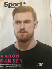 Wales AARON RAMSEY PHOTO COVER INTERVIEW SPORT MAGAZINE AUG 2015 - CARMEN JORDA
