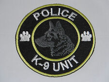 NOVELTY MILITARY SEW ON / IRON ON PATCH:- POLICE K-9 UNIT DOG HANDLER