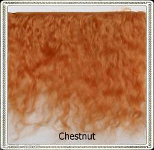 "Mohair Weft CHESTNUT,  5"" - 6"" X 36""   Ideal for Reborn dolls"