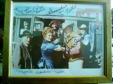 GUNSMOKE FULL CAST AUTOGRAPHED 8X10 FRAMED RP PHOTO JAMES ARNESS FESTUS KITTY