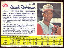 1962 POST CANADIAN BASEBALL 122 FRANK ROBINSON EX+ CINCINNATI REDS CARD