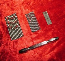 1PC Doble Extremo Pin Vice & 30Pc Micro Brocas Model & Joyería Reloj Making Tools
