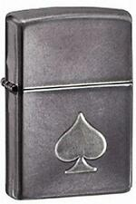 Zippo 28379 ace of spades gray dusk finish RARE & DISCONTINUED Lighter