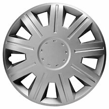 "14 Inch Wheel Trim Set Silver Set of 4 Hub Caps Covers 14"" Trims Sakura Victory"