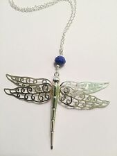Pilgrim Jewelry Silver Plated Dragonfly Pendant With Gem Detail