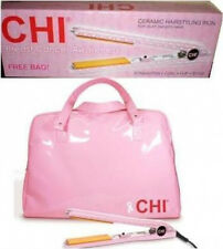 "FAROUK chi CERAMIC 1"" flat iron BREAST CANCER  pink+BAG GF1001BC Open Box Item"