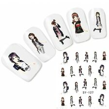 Tattoo Nail Art Japan Manga Glitzer Anime Aufkleber Nagel Sticker Neu!