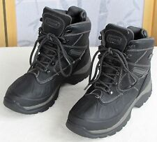 Size 8-Coleman Mens Black Pebbled Winter Hiking Camping Snow Boots Shoes