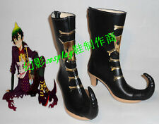 Blue Exorcist Amaimon Black Halloween Long Cosplay Shoes Boots H016