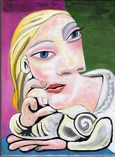 "Pablo Picasso -  Oil Painting ""PORTRAIT of MARIE THERESE WALTER"""