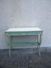Shabby Chic Small Leather-Top Painted Mahogany Writing Desk 6104