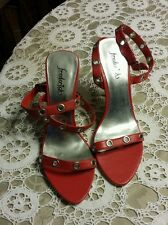 NEW Frederick's Of Hollywood ~ Women's Red Leather Stilettos ~ 4 Inch Heel ~ 9