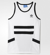 ADIDAS WHITE/BLACK TANK TOP T SHIRT MENS SIZE X LARGE NWT $35