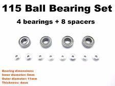 HG 115 (11*5*4mm) Ball Bearings Set for All Tamiya Mini4WD PRO