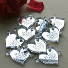 Heart Personalised Table Centerpieces Wedding Decoration Decor Mr & Mrs Favours