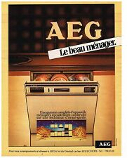 PUBLICITE ADVERTISING 054 1981  AEG   le beau ménager lave vaisselle