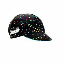 "NEW Cinelli ""Caleido Spots"" Cotton Cycling Cap - ONE SIZE -retro fixed track"