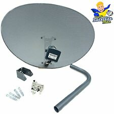 New 80cm Zone 2 Sky Satellite Dish & MK4 Quad LNB For Freesat HD Polesat Hotbird