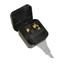 2 Pin Euro Plug to 3 Pin UK Mains Adapter - Ideal for GHD's 5 Amp  - BLACK