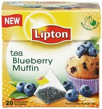 Blueberry Muffin Black Tea Luxury Lipton 20 Pyramid Bags.Buy 3 Get 4(1 for FREE)