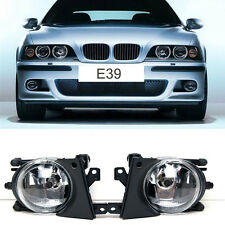 Front Bumper Replacement Fog Lights Clear Lens Lamps For BMW E39 5 Series 01-03