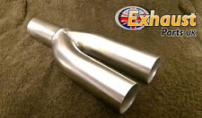 "Exhaust Y Piece 2 to 1 Divider 38mm 1.5"" Joint Section Stainless Steel Collector"