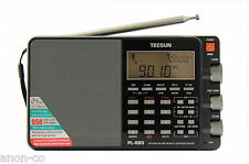 TECSUN PL-880 Radio Receiver   **BLACK - MATTE**    (NO BATTERY)