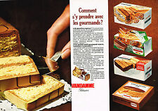 PUBLICITE ADVERTISING  1965   VANDAMME PATISSIER  gateau  ( 2 pages)