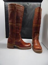 Vintage(?) Men's JC Penney Brown Leather Knee High Western Boots Size 6.5M