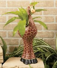 Giraffe Safari Animal Planter Flower Pot Garden Outdoor Indoor Plants