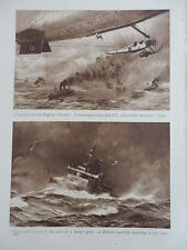 WW1 AIRSHIP SCOUTING NORTH SEA; WARSHIP; EAST AFRICA (1 SHEET, BOTH SIDES)