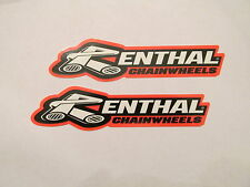 Two Renthal Factory Team Racing Sponsor Decals Yamaha YZ YZF 125 250 450 TTR 110