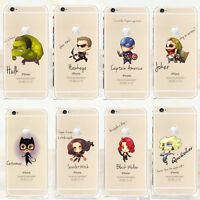 MARVELS AVENGER Transparent TPU Soft case For Apple Iphone 6/6.s & 6+/6+.s