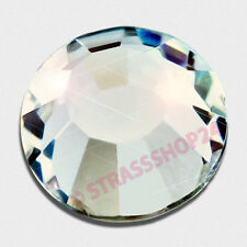 100 SWAROVSKI ELEMENTS Flat Backs  HOTFIX  *CRYSTAL*  SS6