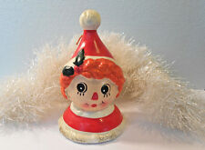 NAPCO Raggedy Ann doll figurine Christmas ceramic Bell holiday decoration-VTG