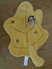 Egmont toys autumn leaf comfort blanket with removeable hedgehog