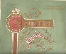 Alma Languente Mazurga Elegante di E. Becucci per Violino e Pianoforte 1880 c.a