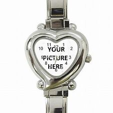 Heart Shaped Women's Bracelet Watch Custom Personalized YOUR PICTURE PHOTO LOGO