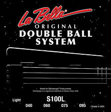 "LA BELLA S100L DOUBLE BALL END ""STEINBERGER"" BASS STRINGS, 4 string set, 40-95"