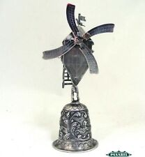 Novelty Dutch Silver Windmill Wine Wager Cup / Stein The Netherlands Ca 1860
