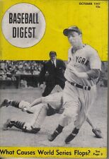 1947 (Oct.) Baseball Digest,  magazine, Joe DiMaggio, New York Yankees